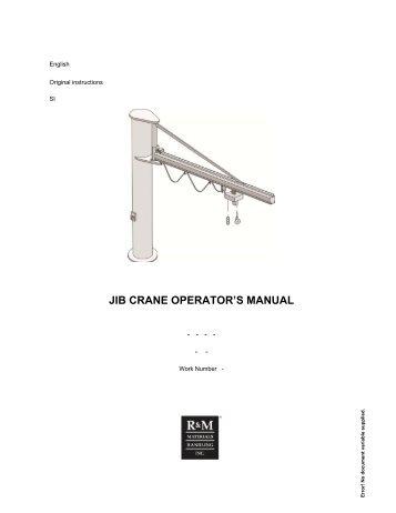 Jib crane design analysis essay