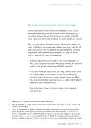 The impact of arts and health – the evidence base - Arts Council ...