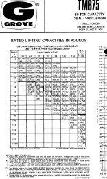 Grove TM875 Crane Chart