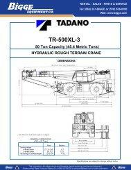 Tadano TR 500XL-3 Load Capacity - Cranes for