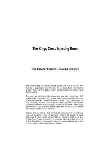 The Kings Cross Injecting Room - Drug Free Australia