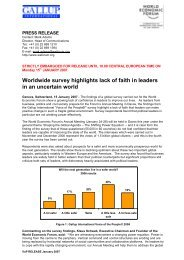 Worldwide survey highlights lack of faith in leaders in an ... - Isopublic
