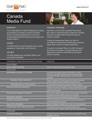 CMF Info Kit - Canada Media Fund