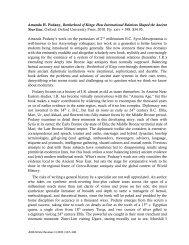 Amanda H. Podany, Brotherhood of Kings - The Ancient History ...