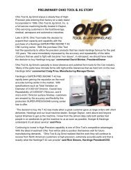 PRELIMINARY OHIO TOOL & JIG STORY