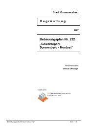 Bebauungsplan Nr. 232 - Stadt Gummersbach