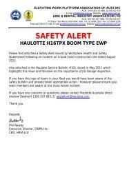 SAFETY ALERT Haulotte h16tpx boom type ewp - Vertikal.net