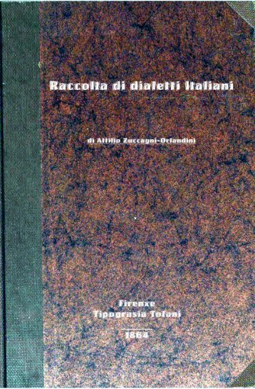 Raccolta di dialetti italiani - Sttan.altervista.org