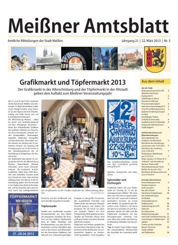 Amtsblatt Nr. 03 vom 22. März 2013 - Stadt Meißen