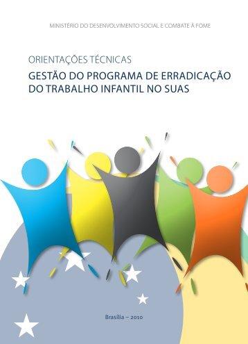 Gestão do ProGrama de erradicação do trabalho infantil no sUas