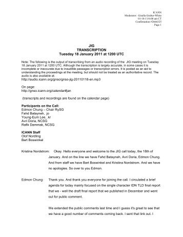 Transcript JIG 18.01.11 - Icann