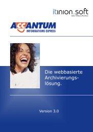 Die webbasierte Archivierungs- lösung.