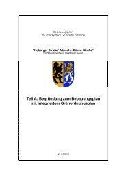 Begruendung zum Bebauungsplan - Stadt Markkleeberg