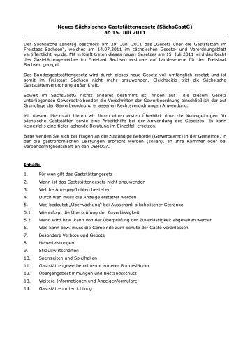 Merkblatt zum Sächsischen Gaststättengesetz - Stadt Markkleeberg
