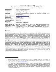 Informe final* del Proyecto R228 Aves de las reservas de ... - Conabio