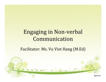 Engaging in Non-verbal Communication