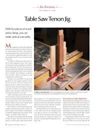 Table Saw Tenon Jig - Popular Woodworking Magazine