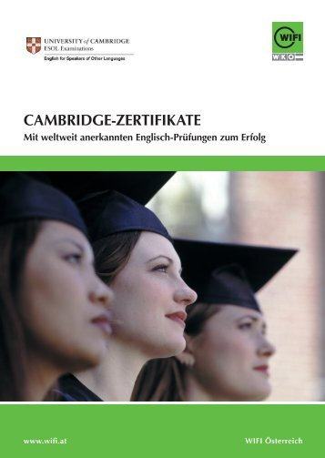 WIFI Cambridge Zertifikate