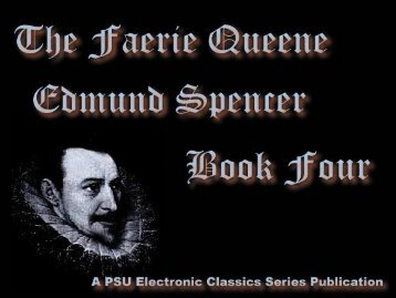 The Faerie Queene, Book IV - Penn State University