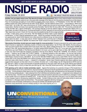 news INSIDE >> Friday, October 19, 2012