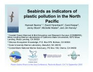 Seabirds as indicators of plastic pollution in the - UC Davis Bodega ...