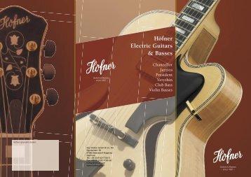 Höfner Electric Guitars & Basses