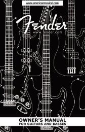 Squier Bass Guitars Manual - American Musical Supply