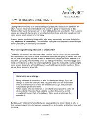How to Tolerate Uncertainty - AnxietyBC