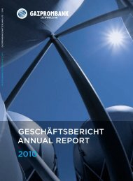 GeSchäftSbericht annual report 2010 - Russische Kommerzial Bank ...