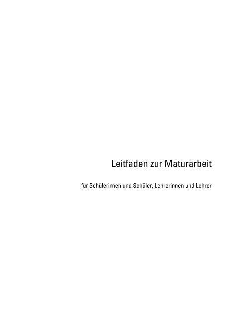 Leitfaden zur Maturarbeit - Gymnasium Liestal