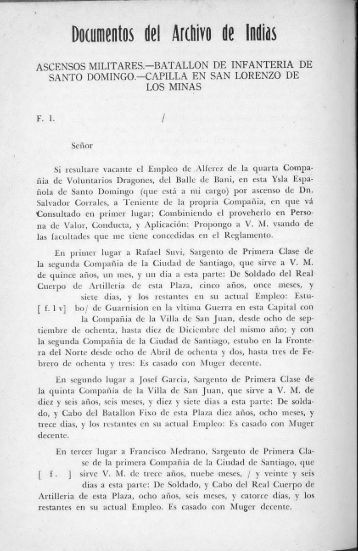 DOCUMENTOS DEL ARCHIVO DE INDIAS - BAGN