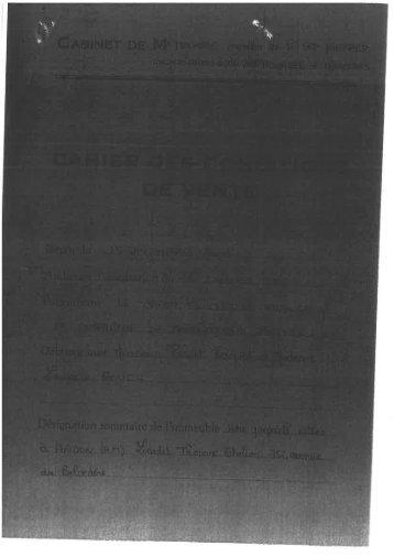 Le Cahier des conditions de vente - SCP Kieffer-Monasse