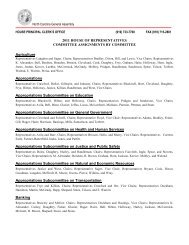 2011 Committee Assignments By Committee