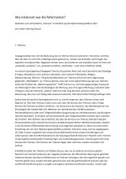 Wie intolerant war die Reformation? - Offene Kirche Württemberg