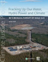 Fracking Up Our Water, Hydro Power and Climate - Canadian ...