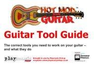 Guitar Tool Guide - Play Music Pickup
