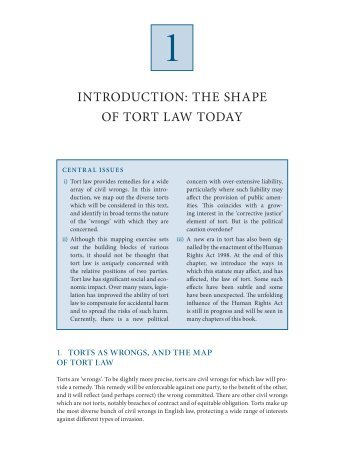 history of torts Book reviews tort law in america: an intellectual history by g edward white' new york: oxford university press i98o pp xvi, 283.