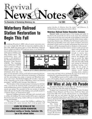 RW newsletter Summer05.indd - Revitalizing Waterbury