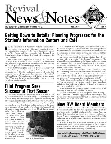 Fall 2005 - Revitalizing Waterbury