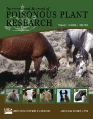 International Journal of Poisonous Plant Research - Agricultural ...