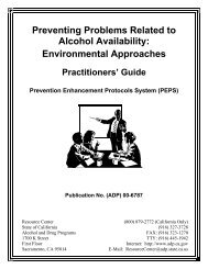 Preventing Problems Related to Alcohol Availability - Socrates ...