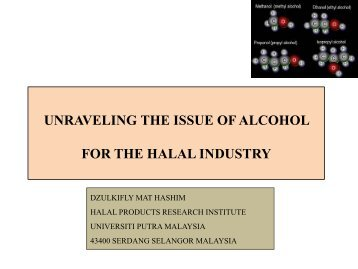 use of alcohol halal issue Islamic jurisprudence specifies which foods are halāl (حَلَال lawful) and which  are harām (حَرَامْ  in islam, consumption of any intoxicants (khamr, specifically,  alcoholic beverages) is generally forbidden in the  the south african national  halal authority (sanha) issues certificates and products bearing this logo range  from.