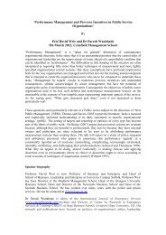 By Prof David Weir and Dr Paresh Wankhade 5 - Cranfield School of ...