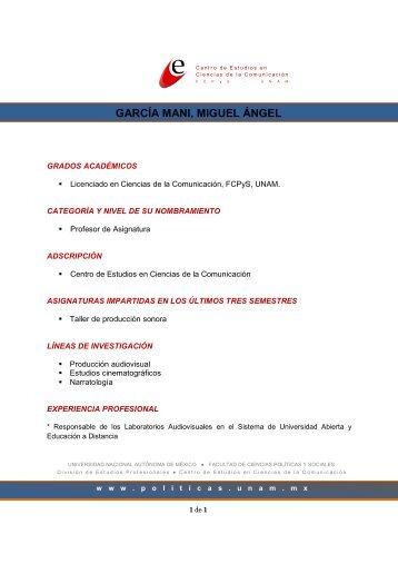 GARCÍA MANI, MIGUEL ÁNGEL - Facultad de Ciencias Políticas y ...
