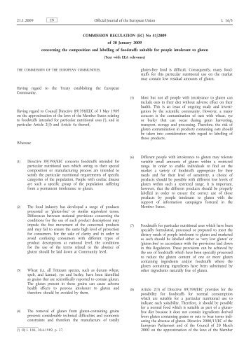 COMMISSION REGULATION (EC) No 41/2009 of 20 ... - EUR-Lex
