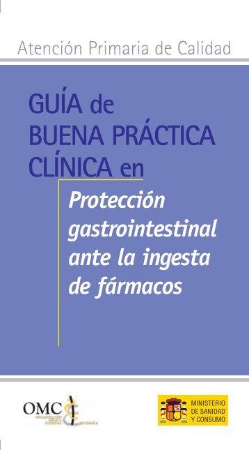 Protección gastrointestinal ante la ingesta de fármacos. - CGCOM