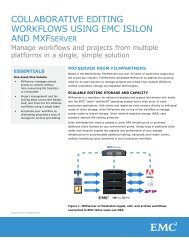 Collaborative Editing Workflows Using EMC Isilon and MXFserver