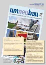 umneubau MEDIADATEN 2010 - Robe Verlag AG
