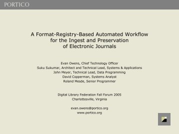 A Format-Registry-Based Automated Workflow for the Ingest and ...