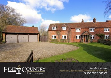 Boundary Cottage Heath End, Berkhamsted, Hertfordshire HP4 3UE ...